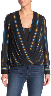 BCBGMAXAZRIA Striped Jaklyn Blouse