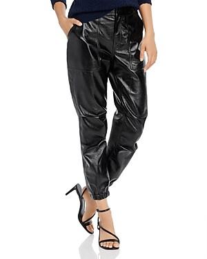 Joie Findley Faux-Leather Jogger Pants