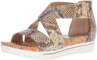 Adrienne Vittadini Footwear Women's Claud Sandal tan-Brown-Fuchsia 6 Medium US