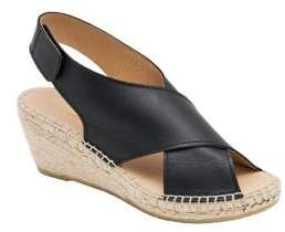 Andre Assous Florence Leather and Jute Wedge Espadrilles