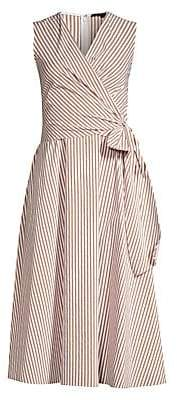 Kobi Halperin Women's Dina Striped Sleeveless Wrap Dress