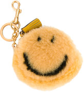 Anya Hindmarch smiley coin purse keyring - women - Sheep Skin/Shearling - One Size