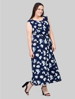 M&Co Izabel Curve floral ruched midi dress