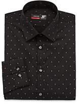 Jf J.Ferrar Easy Care Stretch Big And Tall Mens Point Collar Long Sleeve Stretch Dress Shirt