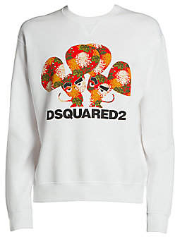 DSQUARED2 Men's Cool Fit Year of the Mouse Graphic Sweatshirt