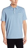 Arrow Men's Short Sleeve Marled Self Collar Polo