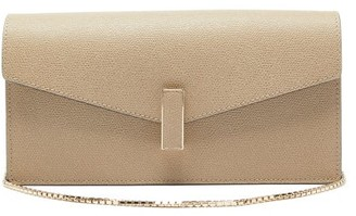 Valextra Iside Grained Leather Clutch - Beige