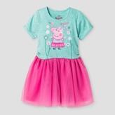 Peppa Pig Toddler Girls' T-Shirt Dress - Multi-Colored