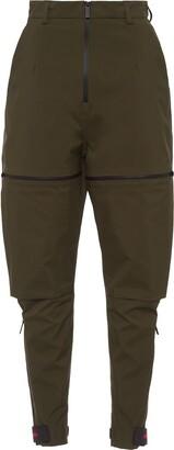 Prada Zip Details Layered Trousers