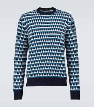 Prada Wool and cashmere jacquard sweater