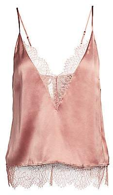 CAMI NYC Women's The Shay Lace Trim Silk Camisole
