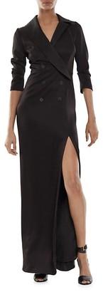 Halston Kate Three-Quarter Sleeve Tuxedo Gown