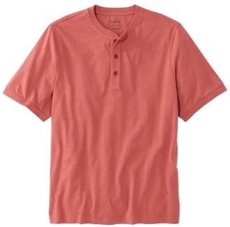 L.L. Bean L.L.Bean Men's LakewashedA Organic Cotton Shirt, Short-Sleeve Henley