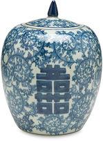 AA Importing 10 Lancret Jar, Blue/White