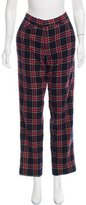 Band Of Outsiders Plaid Knit Mid-Rise Pants