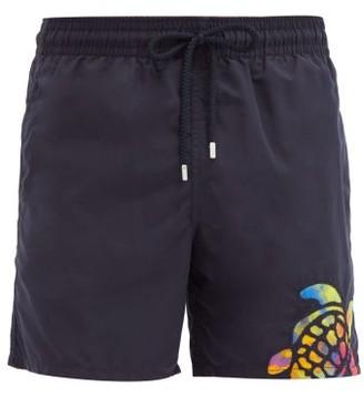 Vilebrequin Motu Neon-turtle Swim Shorts - Navy