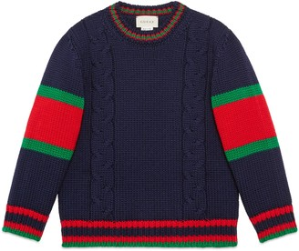 Gucci Children's cable knit wool jumper