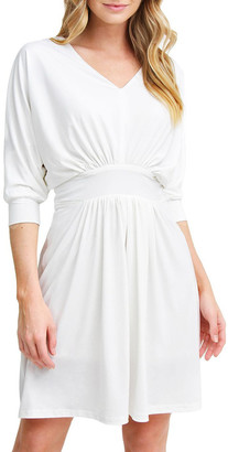 Belle & Bloom Morning Light White Mini Dress