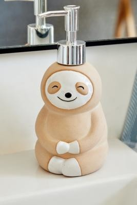 Urban Outfitters Sloth Soap Dispenser - Beige ALL at