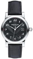 Montblanc 107314 Star Date Automatic Stainless Steel Alligator Strap Watch, Black