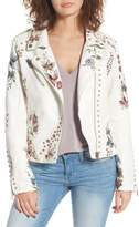 Blank NYC BLANKNYC Embroidered Moto Jacket