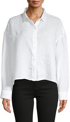 James Perse Boxy Linen Shirt