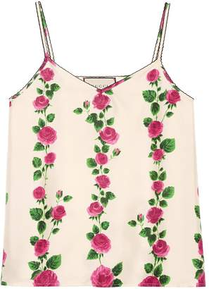 Gucci Rose Garden print tank top