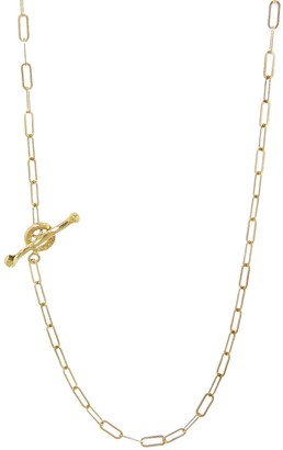 Cathy Waterman 17 Inch Spanish Chain Yellow Gold Necklace