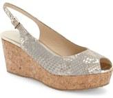 Jimmy Choo 'Praise' Cork Platform Wedge Sandal (Women)