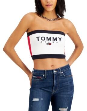 Tommy Jeans Bandeau Crop Top