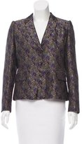 Dries Van Noten Jacquard Notch-Collar Blazer w/ Tags