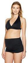 Prego Maternity Women's Solid Ruched Bikini