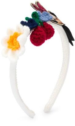 MonnaLisa Mickey Mouse embroidered hair band