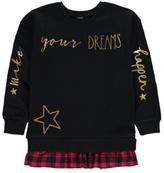 George Slogan Mock Layer Sweatshirt