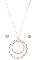 George Pendant Necklace and Earrings Set