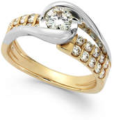 Sirena Diamond Two-Row Engagement Ring in 14k Gold (7/8 ct. t.w.)