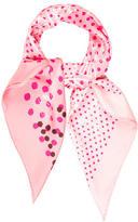 Nina Ricci Silk Polka Dot Scarf