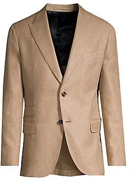 Eleventy Men's Single-Breasted Linen-Blend Blazer