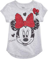 Disney Disney's Minnie Mouse Glitter Lace T-Shirt, Little Girls