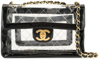 Chanel Pre Owned CC logos Jumbo XL double chain shoulder bag