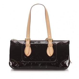 Louis Vuitton Rosewood Burgundy Patent leather Handbags