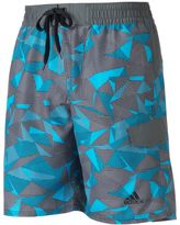 adidas Men's Sport Geo Microfiber Volley Swim Trunks