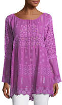 Johnny Was Mixed Tiered Tunic, Petite