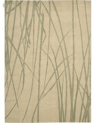 Calvin Klein Woven Textures Wool Beige Area Rug