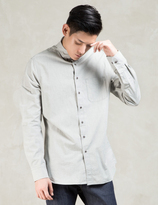 Wings + Horns Grey Ripstop Melange Ls Woven Shirt