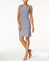 Charter Club Petite Printed Keyhole Sheath Dress, Created for Macy's