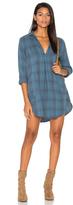 Cp Shades Teton Plaid Button Up Dress