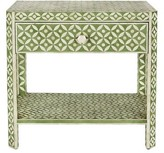 Aidan Gray Ecliptic End Table with Storage Color: Pale Jade