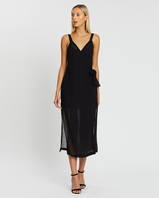 Third Form Crush Wrap Maxi Dress