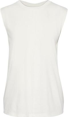 Current/Elliott Ruched Slub Pima Cotton-jersey Tank